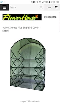 New harvest house plus x-up bug/bird cover (NOT A Newport News, 23601