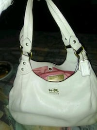 women's white leather shoulder bag 410 mi
