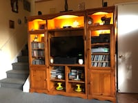 """Solid wood,illuminated Entertainment Ctr.78""""x17.5""""x72"""" King Of Prussia, 19406"""