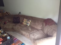 brown fabric 3-seat sofa Vancouver, V5L 1K6