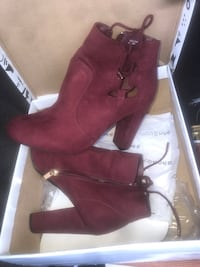 pair of maroon suede boots Mountain Brook, 35243
