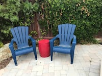 two blue and red wooden armchairs San Marcos, 92078