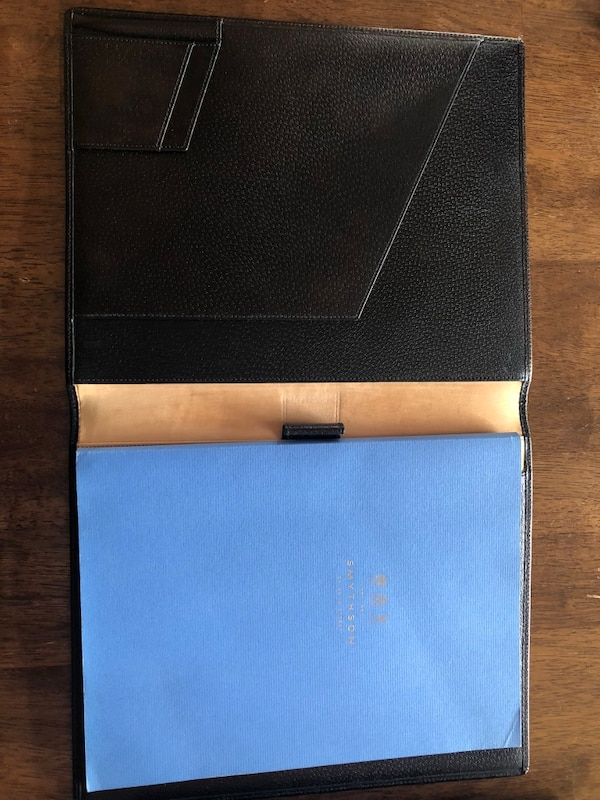 Symthson writing pad. Real leather brown. (A4 size) like new. Leesburg