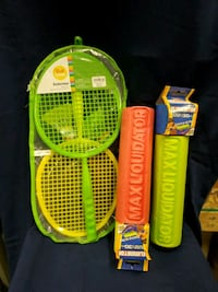 *NEW* Toy badminton set and water toys, never used Harrison, 37341