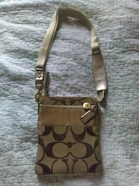 brown and black Coach monogram crossbody bag Houston, 77007