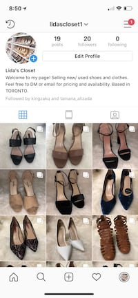 New and used sandals and shoes$10-$20 Toronto, M1H 3K2