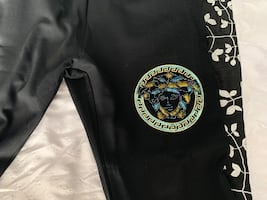Versace black track suit size medium, xxl European