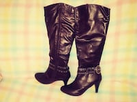 Chocolate boots, high heels Courtright, N0N 1H0