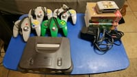 Nintendo N64 w/ six games, four controllers Lewisville