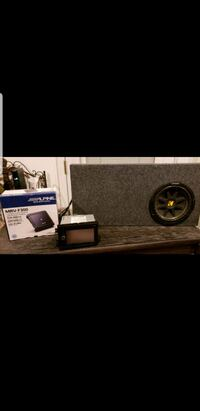 Kenwood Stereo, Alpine amplifier and subwoofer 1622 mi