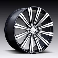 28x10 wheels and tires package 6 lug fits Chevy gmc CADILLAC  Lincoln Park, 48146