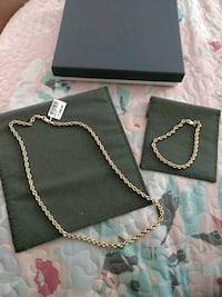 10 k gold rope chain 4.4mm and bracelet  Brownsville, 78520