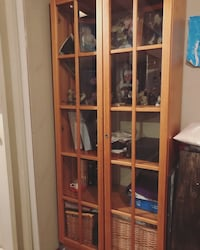 IKEA glass cabinet with 5 shelves