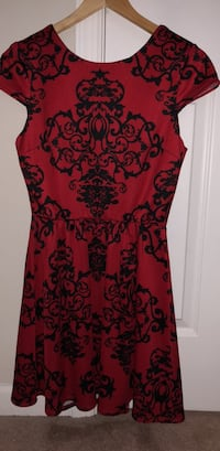 red and black floral sleeveless dress Bristow, 20136