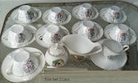 Porcelain Tea Set 21pcs  Gold Trim Japanese Men &  Longwood, 32750