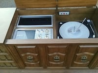 brown wooden TV stand with cabinet Mechanicsville