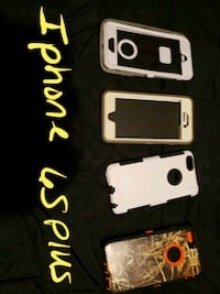 four assorted iPhone cases and black iPhone 5 Savannah, 31405