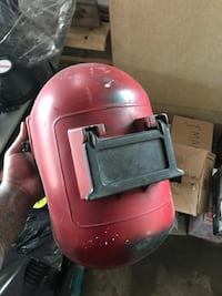 red and gray welding mask Toronto, M4M