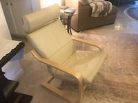 Leather rocker and footrest, very good condition Los Angeles, 91367