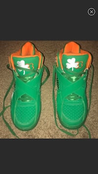 pair of green Air Jordan basketball shoes District Heights, 20747