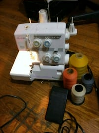 Janome My Lock 204D with 4 spools of thread Memphis