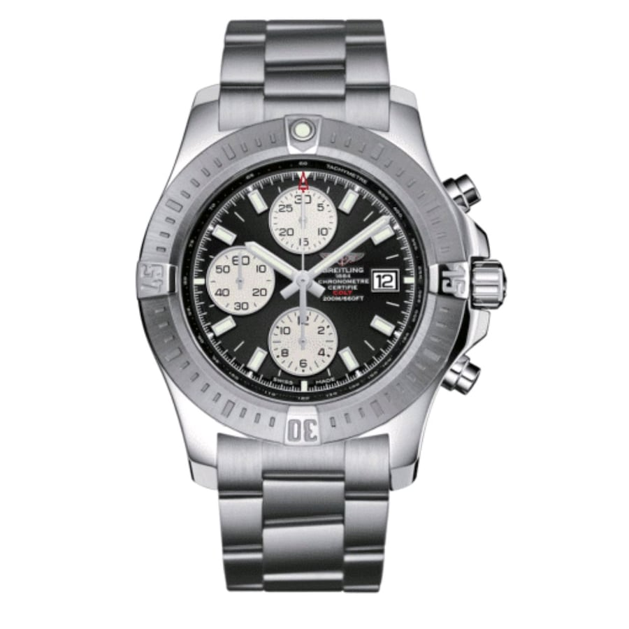 Breitling Colt Chronograph Automatic Black Dial Stainless Steel Watch