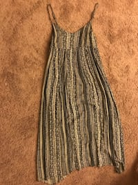 women's gray and black spaghetti strap dress New York, 11213