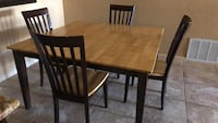 rectangular brown wooden table with four chairs dining set San Antonio, 78217