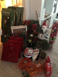Christmas Decorations in traditional red & green.  Some new in box! Santa Monica, 90403