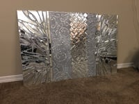 Silver mirror wall art decor 58x89cm Edmonton, T5Z 0L3