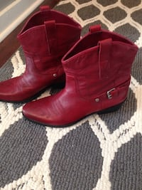 A pair of red Franco Sarto leather cowboy boots size 8 like new Nicholasville, 40356