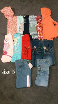 Girls size 5 name brand clothing&dress $40 see all 155 mi