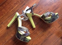 ZARA Lime Sandals - size 6 (with pricetag on)
