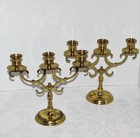 Brass Candelabra Set 2 read description Vintage Mississauga