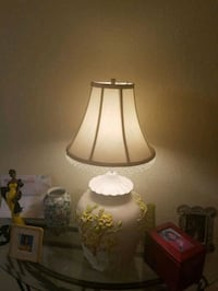white and brown table lamp Plantation, 33317