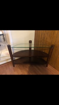 black wooden framed glass top TV stand Clawson, 48017