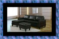 Black sectional with ottoman East Riverdale