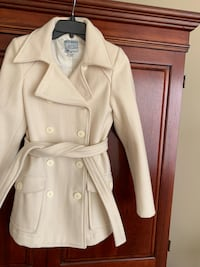Old navy wool blend pea coat , winter white , excellent condition, size xs North Charleston, 29485