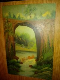 brown wooden framed painting of green leaf trees Silver Spring, 20906