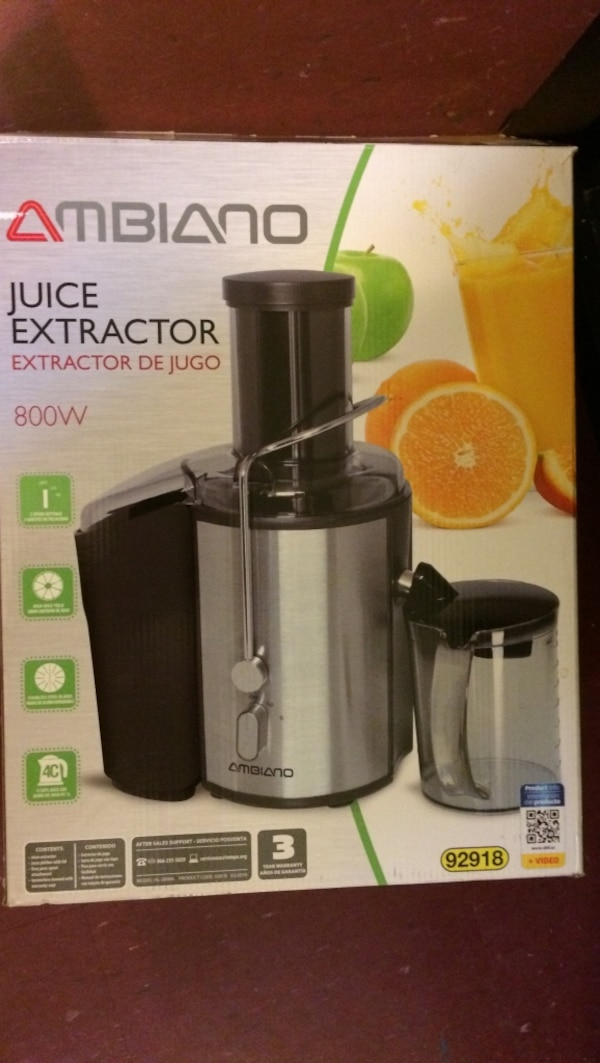 800W gray Ambiano 92918 juice extractor box