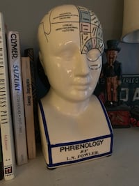 "12"" Antique Phrenology Bank"