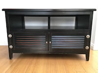 Black wooden 2-drawer tv stand Los Angeles, 90049