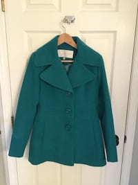 Jessica Simpson ladies dress coat in beautiful teal colour. EUC  Ladner, V4K