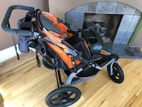 baby's black and red jogging stroller Redlands, 92373