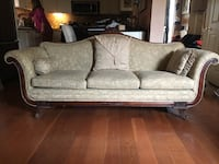Antique taupe couch, excellent shape. Best offer taken. Need gone by weekend. Many more items for sale, pics to follow