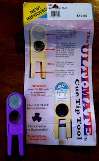 """** The """"Ultimate Cue Tip Tool"""" for Pool & Billiards!!!"""