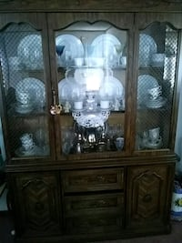 brown wooden china buffet hutch Medford, 02155