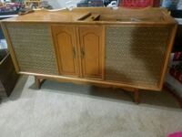 brown wooden TV stand with cabinet Kernersville, 27284