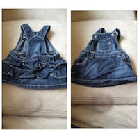 toddler's blue chambray dungaree skirt
