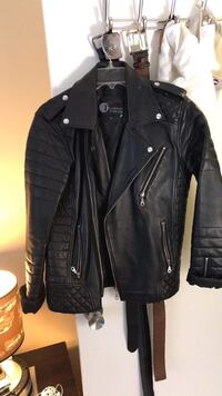 Leather biker jacket size small $100 Raleigh, 27615
